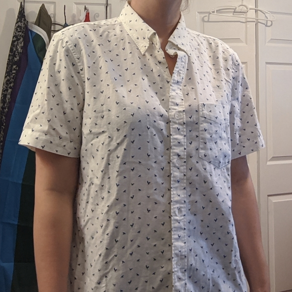 NWOT White Button-Up Shirt